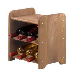 Regał na wino RW-3-6P brązowy